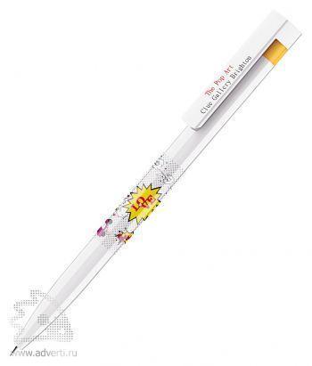 Шариковая ручка «Liberty Polished Basic», желтая, пример нанесения