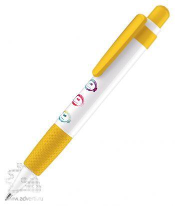 Шариковая ручка «Big Pen Polished Basic», желтая, пример нанесения