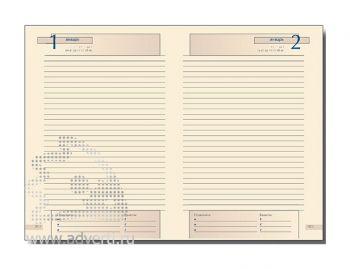 Внутренний блок ежедневников полудатированных А6 (110х155 мм), А5 (145х216 мм)