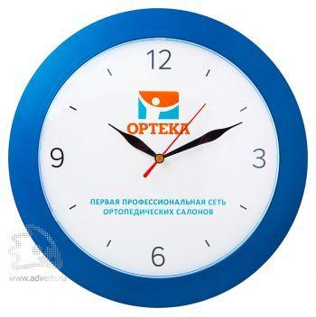 Часы круглые 305 мм, выпуклое стекло, синий корпус