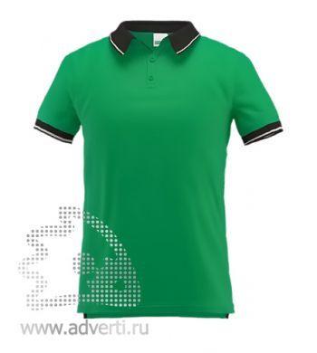 Рубашка поло «Stan Contrast», мужская, зеленая