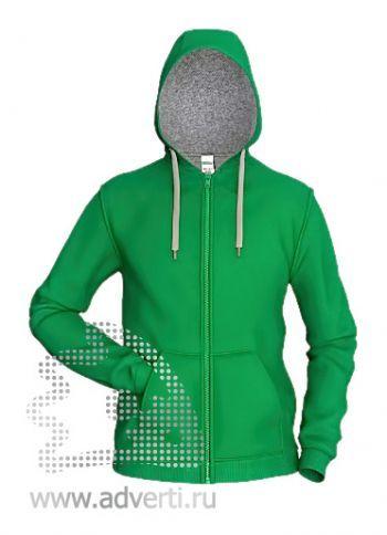 Толстовка «Stan Style», мужская, зеленая с серым