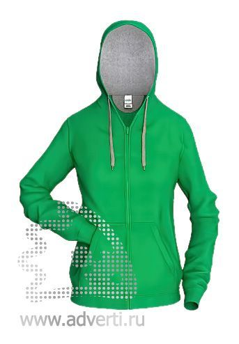 Толстовка «Stan Style W», женская, зеленая с серым