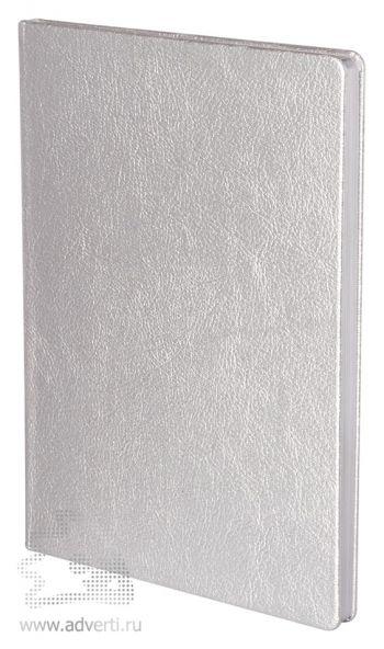 Записная книжка «Ingot», серебристая, в ракурсе