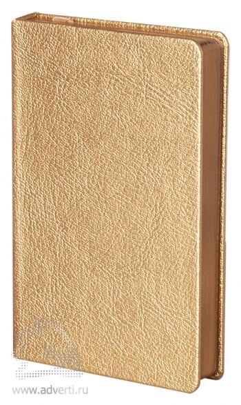 Ежедневник «Ingot», золотистый, в ракурсе