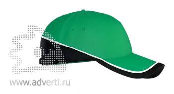 Бейсболка «Stan TwoColors», зеленая