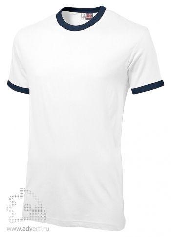 Футболка «Adelaide» с контрастными деталями, мужская, белая с темно-синим
