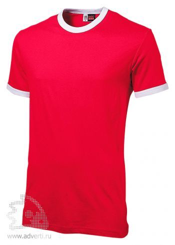 Футболка «Adelaide» с белыми деталями, мужская, красная