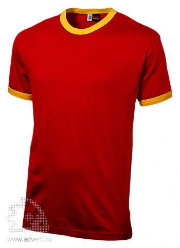 Футболка «Adelaide» с желтыми деталями, мужская, красная