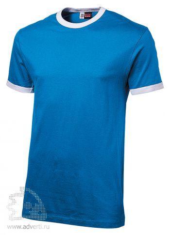 Футболка «Adelaide» с белыми деталями, мужская, голубая