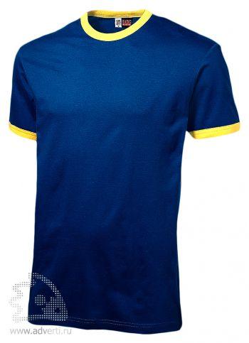 Футболка «Adelaide» с желтыми деталями, мужская, синяя