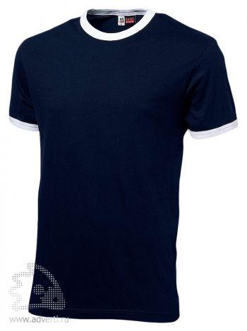 Футболка «Adelaide» с белыми деталями, мужская, темно-синяя