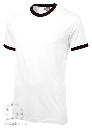 Футболка «Adelaide» с контрастными деталями, мужская, белая с черным
