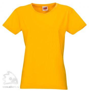 Футболка «Heavy Super Club», женская, ярко-жёлтая