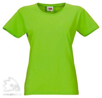 Футболка «Heavy Super Club», женская, ярко-зелёная