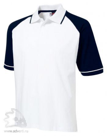 Рубашка поло «Sydney», мужская, белая с темно-синим
