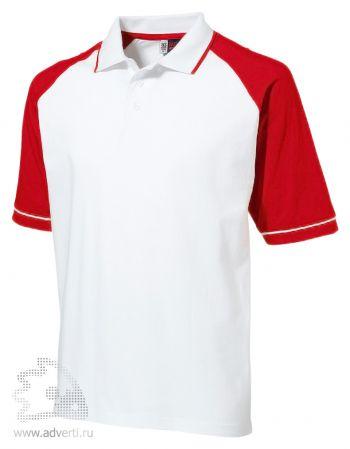 Рубашка поло «Sydney», мужская, белая с красным