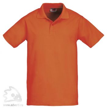 Рубашка поло «First», мужская, оранжевая