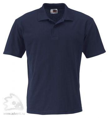 Рубашка поло «First», мужская, темно-синяя