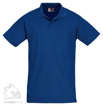 Рубашка поло «First», мужская, синяя