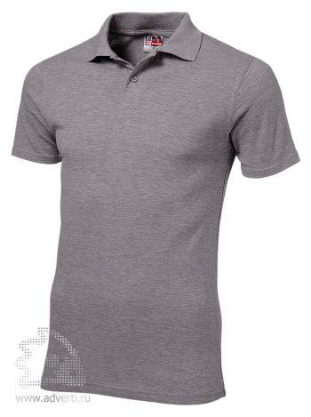 Рубашка поло «First», мужская, серая