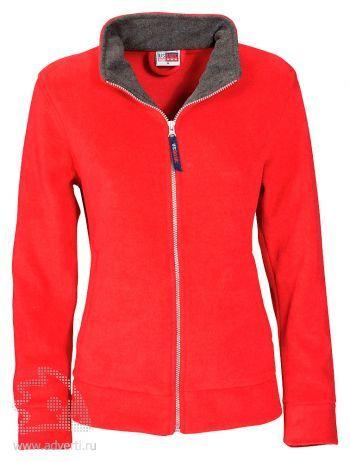 Джемпер «Nashville», женский, US Basic, Голландия, красная с пепельно-серым