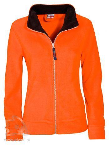 Джемпер «Nashville», женский, US Basic, Голландия, оранжевая с черным