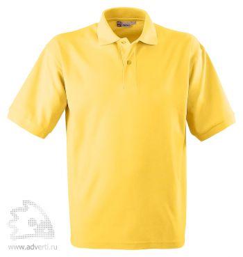Рубашка поло «Boston», мужская, светло-желтая