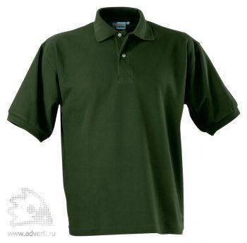 Рубашка поло «Boston», мужская, темно-зеленая