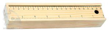 Набор из 8 карандашей в пенале с линейкой