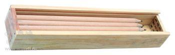Набор из 8 карандашей в пенале с линейкой, открытый