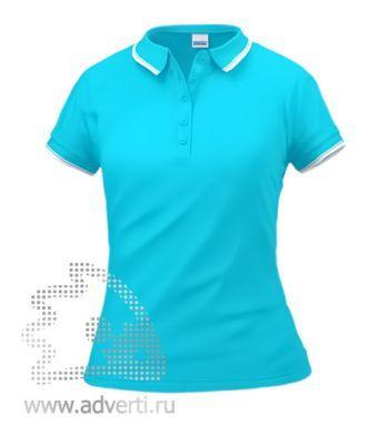Рубашка поло «Stan Trophy W», женская, лазурная