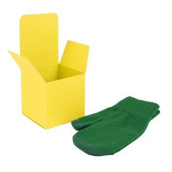 Коробка подарочная «Cube», жёлтая, пример использования