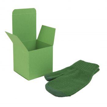 Коробка подарочная «Cube», светло-зелёная, пример использования