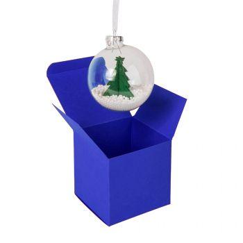 Коробка подарочная «Cube», синяя, пример использования