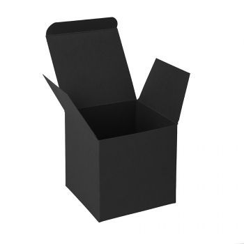 Коробка подарочная «Cube», чёрная, в открытом виде
