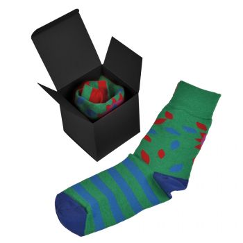 Коробка подарочная «Cube», чёрная, пример использования