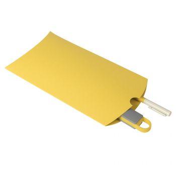 Коробка подарочная «Pack», жёлтая, пример использования