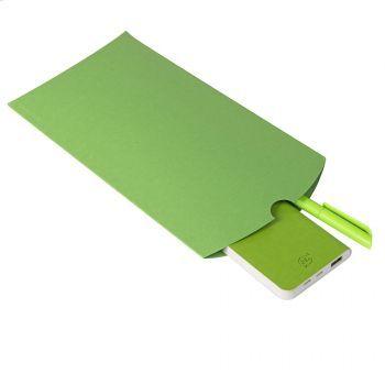 Коробка подарочная «Pack», светло-зелёная, пример использования