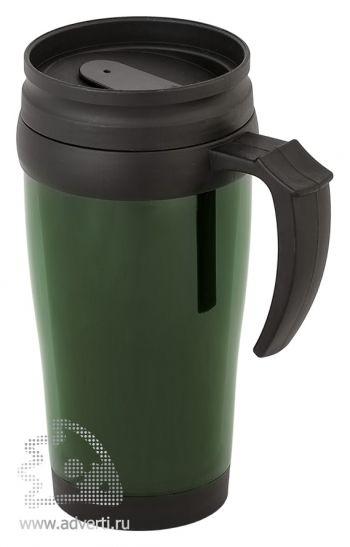 Кружка дорожная «Вермонт», темно-зеленая