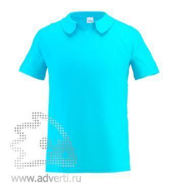 Рубашка поло «Stan Primier», мужская, бирюзовая