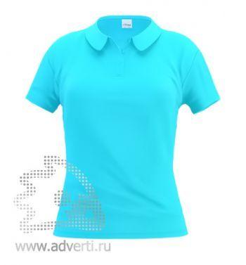 Рубашка поло «Stan Women», женская, лазурная