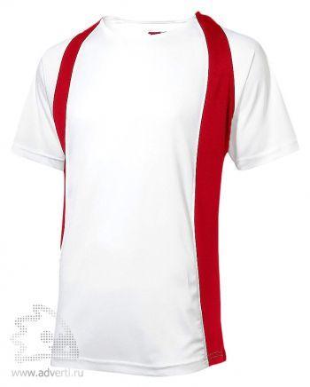 Футболка «Cool Fit», мужская, Slazenger, белая с красным