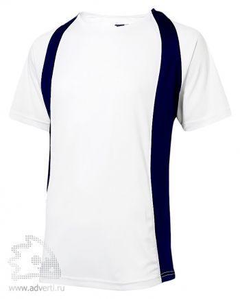 Футболка «Cool Fit», мужская, Slazenger, белая с темно-синим