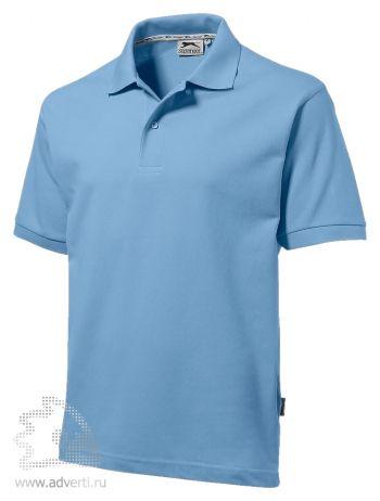 Рубашка поло «Forehand», мужская, голубая