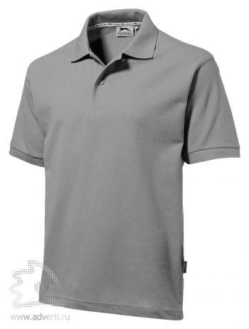 Рубашка поло «Forehand», мужская, серая