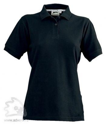 Рубашка поло «Cotton», женская, черная