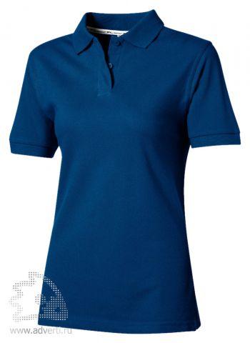 Рубашка поло «Cotton», женская, синяя