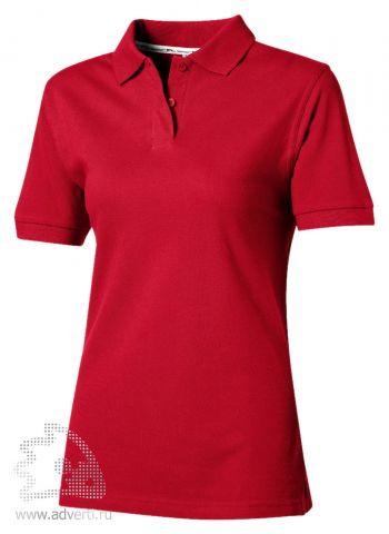 Рубашка поло «Cotton», женская, красная