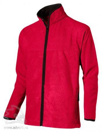 Куртка мужская, Slazenger, красная с черным